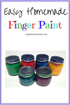 Easy to make Non-toxic Finger Paint using only a few household ingredients!