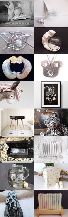 Black and White - Naughty and Nice  by Maria and  Mimi on Etsy--Pinned with TreasuryPin.com