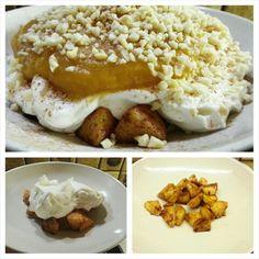 Apfelstrudel Quark-Creme mit Apfel-Mango Mark ☺ Inspiriert von den z.Z. erhältlichen Dutzenden Weichnachtlichen Joghurts: bei uns wie immer ohne Zucker  gesundes Naschen macht nicht nur Spaß, es schmeckt auch fantastico. #gesund #naschen #abnehmen #noexcuses #keineausreden #tacosfitnessblog