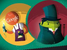 Dribbble - Dr Google & Mr Android by Ilias Sounas