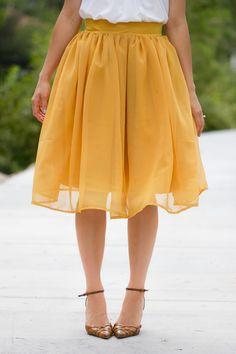 Chiffon Gathered Skirt Pattern Re-Mix - Delia Creates