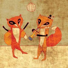 'Fox Party' ~ schalle @ etsy