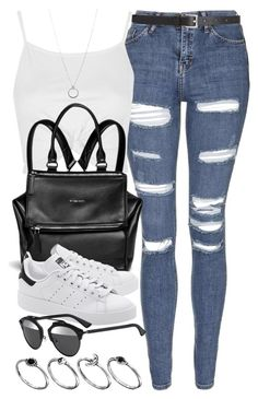 """Style #10004"" by vany-alvarado ❤ liked on Polyvore featuring Topshop, Givenchy, adidas Originals, Christian Dior, ASOS, FOSSIL and Barneys New York"