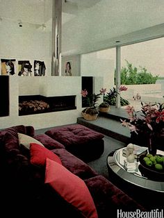 American Gigolo Style If your house didn't have country or shabby chic style, it may have been modern with clean-lined furniture and sleek decor. Think Richard Gere's contemporary apartment in American Gigolo. This house in Biscayne Bay, Florida, from House Beautiful's March 1981 issue, has a geometric fireplace, which has stereo speakers built into each side. Andy Warhol's portfolio of Mick Jagger silkscreens completely surrounds the room.