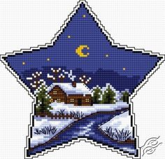 Winter Star - Website pro: This site seems to have a lot of free and terrific cross stitch patterns to download. Website con: You do have to be a registered user to access the links to the actual patterns.