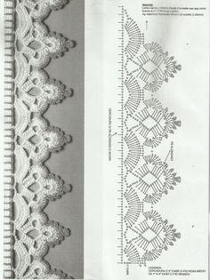 ARTES ERICA: Toalhas com barrados em Crochê (tem gráfico)