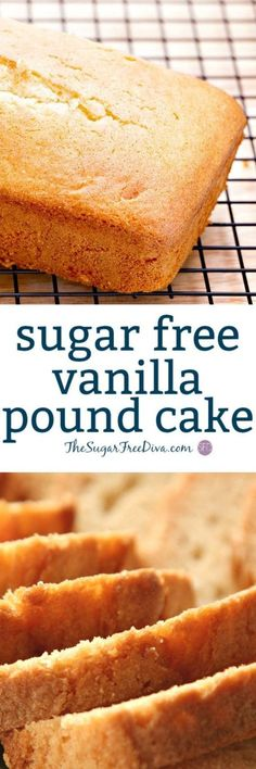 Sugar Free Vanilla Pound Cake- this is perfect for This is a that is a favorite too! Sugar Free Vanilla Pound Cake- this is perfect for This is a that is a favorite too! Diabetic Deserts, Diabetic Friendly Desserts, Low Carb Desserts, Diabetic Recipes, Diabetic Foods, Pre Diabetic, Diet Recipes, Vegan Recipes, Health Desserts