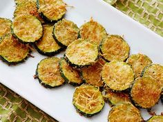 Zucchini Parmesan Crisps - I would probably eat the whole plate. Is it still healthy if you eat the whole plate? :) Can easily make non-dairy!