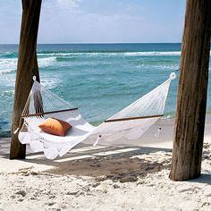 99 Days of Summer: Soften Up a Bench or Hammock 99 Days of Summer - Coastal Living on imgfave Peaceful Places, Beautiful Places, Homemade Pillows, Good Day Sunshine, Enjoy Your Vacation, Summer Is Here, My Happy Place, Coastal Living, The Great Outdoors