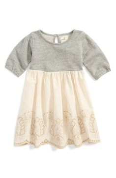 Peek 'Jewel' Long Sleeve Dress (Baby Girls) available at #Nordstrom