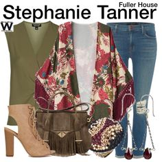 Inspired by Jodie Sweetin as Stephanie Tanner on Fuller House - Shopping info! Tv Show Outfits, 30 Outfits, Simple Outfits, Chic Outfits, Fashion Outfits, Fashion Ideas, Stephanie Tanner, Fuller House, Character Inspired Outfits