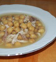 Sopa de Garbanzos con Pollo - Recetas Cubanas