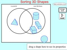 Sorting 3d shapes on a carroll diagram shape space 3d objects sorting 3d shapes on a venn diagram ccuart Images