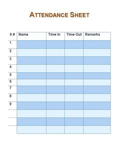 12 Best Employee Attendance Sheet images in 2018