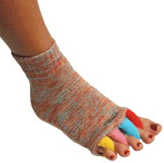 A colorful way to help kick Plantar Fasciitis pain: After Hours Foot Alignment Socks $18.95
