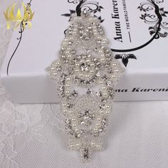 Aliexpress.com : Buy (30pieces) Wholesale Hot Fix Iron On Rhinestone Beaded Applique Crystal Sew On Wedding Dress Bridal Sash…