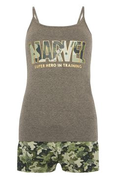 Primark - Shortama met camouflage Marvel-print - Visit to grab an amazing super hero shirt now on sale!
