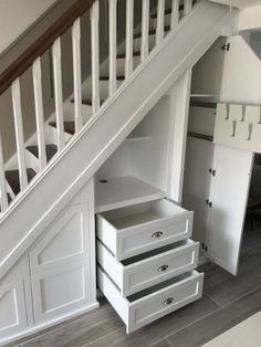 66 The Best Stairs Ideas To Interior Design Your Home ~ Best Dream Home . 66 The Best Stairs Ideas To Interior Design Your Home ~ Best Dream Home . Closet Under Stairs, Under Stairs Cupboard, Basement Stairs, House Stairs, Under The Stairs, Stairs With Drawers, Living Room With Stairs, Under Staircase Ideas, Space Under Stairs