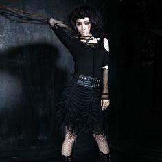 85cab001d40 Q-169 Punk Rave Original design Black short Tutu Bubble Skirt gothic dress   Q-169  -  65.99   Zen Cart!
