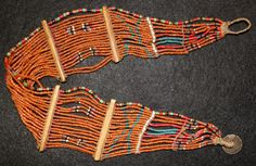 India Beads : Young Konyak Girl's Small Belt by CulturalPatina