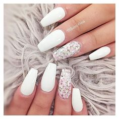 White Nail Designs Collection 48 stylish acrylic white nail art designs and ideas page 4 White Nail Designs. Here is White Nail Designs Collection for you. White Nail Designs perfect white glitter nail art designs for women in White . Nail Art Designs, White Nail Designs, Acrylic Nail Designs, Nails Design, Accent Nails, Gorgeous Nails, Pretty Nails, Perfect Nails, White Coffin Nails