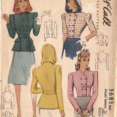 1940 hooded jacket pattern