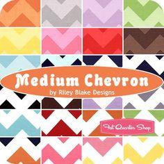 Medium Chevron Fat Quarter Bundle Riley Blake Designs - Fat Quarter Shop