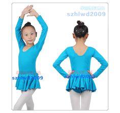 New Girls Party Gym Leotards Skirt Ballet Costume Tutu Dance Skate Dress SZ 3-8Y #Unbranded