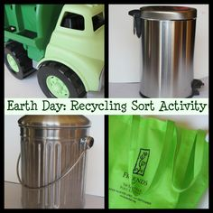 Introducing Earth Day Concepts: Recycling Sort Activity
