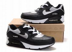 quality design 9efb9 665d9 Nike Air Max 90 hommes chaussures de mode Noir Blanc