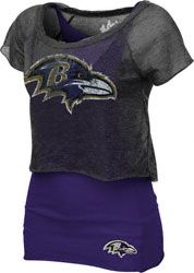 Baltimore Ravens Women's Double Hit Top - Touch by Alyssa Milano