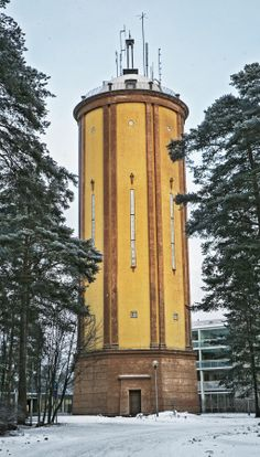 Intiön vesitorni. Water Tower, Helsinki, Architecture Design, Buildings, City, Places, House, Travel, World