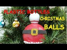 DIY Christmas Crafts: Plastic Bottle Christmas Balls - Recycled Bottles Crafts