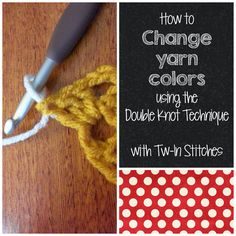 Tw-In Stitches: Changing colors with the Double Knot Technique ✿⊱╮Teresa Restegui http://www.pinterest.com/teretegui/✿⊱╮