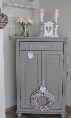 shabby chic grey dresser: #vintageshabbychicfurniture