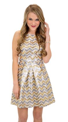 Sequin Chevron Dress :: NEW ARRIVALS :: The Blue Door Boutique