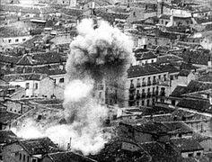 1939.  Bombardeo de Alicante en los últimos meses de la Guerra Civil.- VALENCIA 1939 GUERRA CIVIL HASTA EL TERMINO DE LA GUERRA