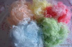 Pure Hand Raised Angora Rabbit Fiber  5 Dyed by KeepingTraditions, $5.00