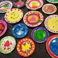 Kinderfeestje servies schilderen