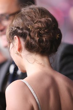 Actress Felicity Jones hair detail arrives at the premiere of Walt Disney Pictures and Lucasfilm's 'Rogue One A Star Wars Story' at the Pantages...