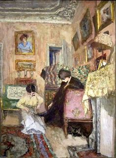 Édouard Vuillard / Lacing the Ankle Boots;