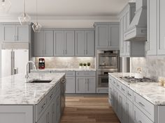 Shaker Kitchen Cabinets, Kitchen Cabinets In Bathroom, Gray Cabinets, Corner Cabinets, Base Cabinets, Kitchen Ideas With Grey Cabinets, Types Of Kitchen Cabinets, Traditional Kitchen Cabinets, Cabinets To Go