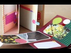 Minibook - idea Scrapbook ~ mini Album FACIL - Dia de los enamorados - YouTube