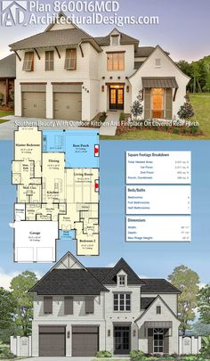 Architectural Designs House Plan 860016MCD gives you 4 beds, 3.5 baths and over 3,000 square feet of heated living space. Ready when you are. Where do YOU want to build? #860016mcd #adhouseplans #architecturaldesigns #houseplan #architecture #newhome #newconstruction #newhouse #homedesign #dreamhome #dreamhouse #homeplan #architecture #architect #acadianhouse #acadianhome #southernhouse #southernhome #southernliving #southernlife