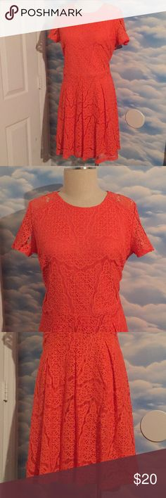a2e7c159b10ec NWT size 12 Apt. 9 CoralPeach lace fit flare dress NWT. Fit   Flare ...