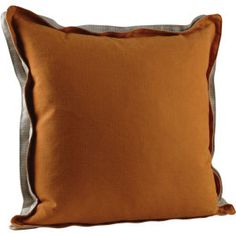 Double Flange Square Throw Pillow