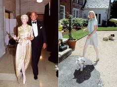 THE TWO SIDE OF C.Z. ~ GETTING HER C.F.D.A. AWARD WITH OSCAR AND AT HOME AT TEMPLETON WITH HER DOGS AND HORSES