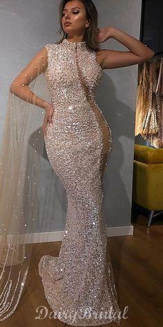 Luxury Sparkly Sequin Beaded Mermaid Long Sleeve Tulle Prom Dresses, F – Dairy Bridal Bride Reception Dresses, Fancy Wedding Dresses, Best Party Dresses, Elegant Dresses For Women, Casual Dresses, Fashion Dresses, Girls Dresses, Bridesmaid Dresses, Prom Dresses