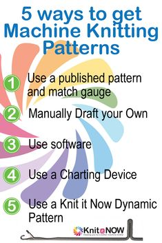 5 ways to get a pattern for machine knitting | Knit It Now