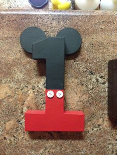 Mickey Mouse Number by AxelToddCrafts on Etsy